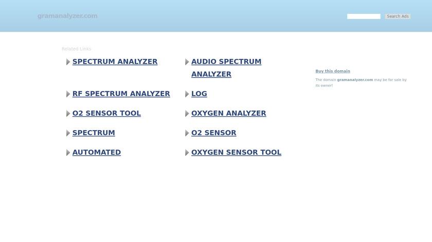 GramAnalyzer.com Landing Page