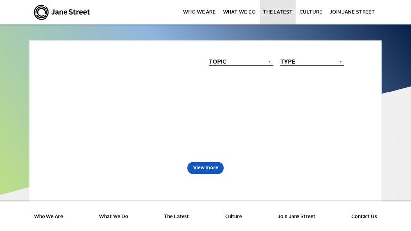 Jane Street Landing Page