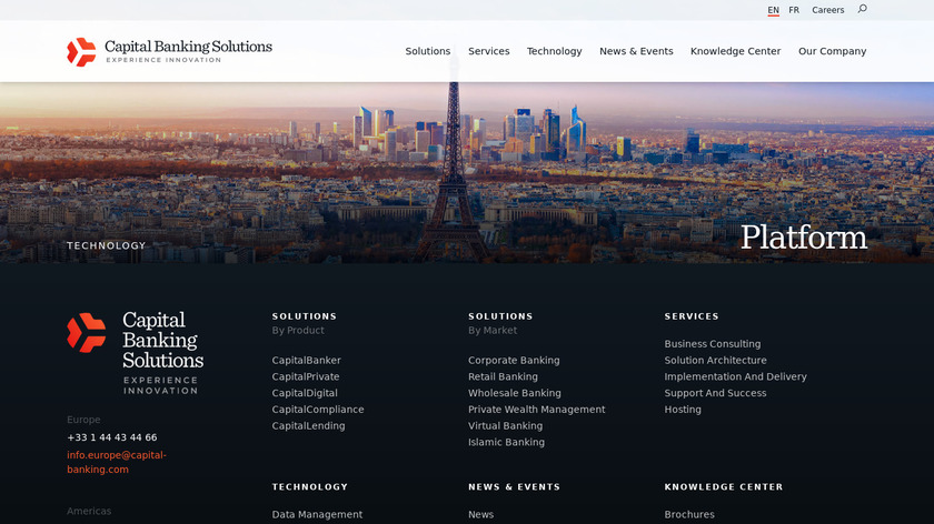 Capital Global Banking Landing Page