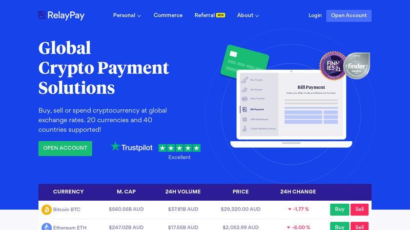 RelayPay.io Landing Page