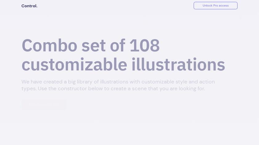 Control Illustrations Landing Page