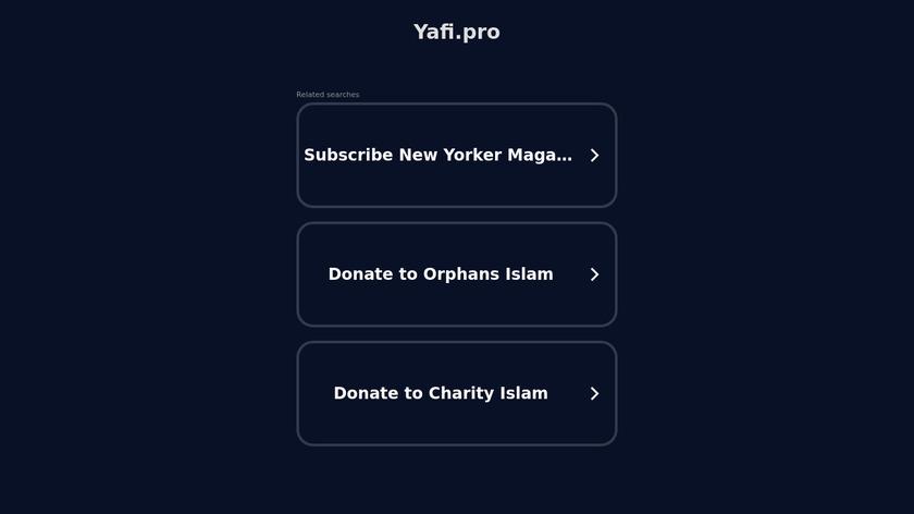 Yafi Landing Page