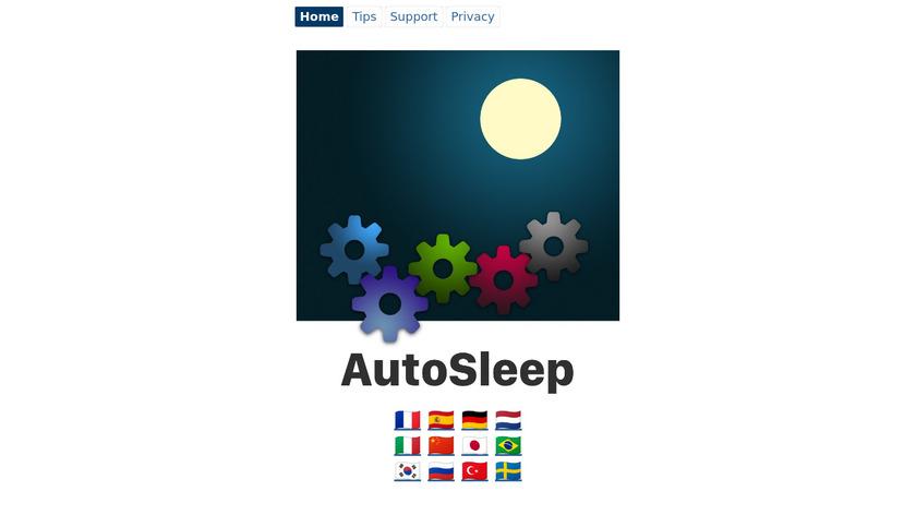 AutoSleep Landing Page