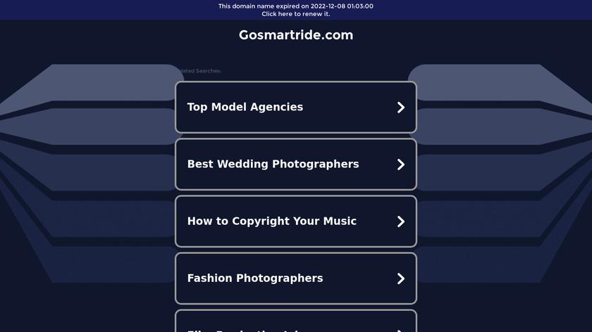 Smart Ride Landing Page