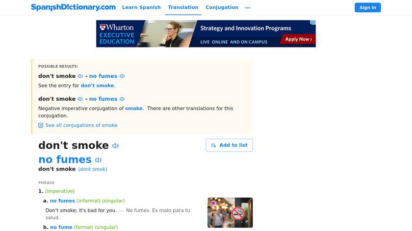 Don't Smoke Landing Page