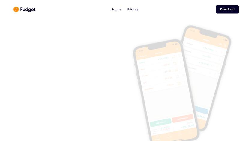 Fudget Landing Page