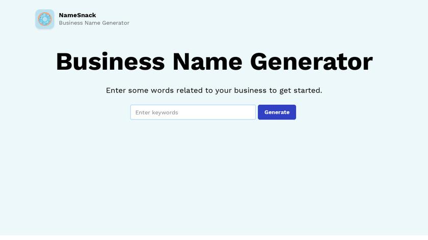 Namesnack Landing Page