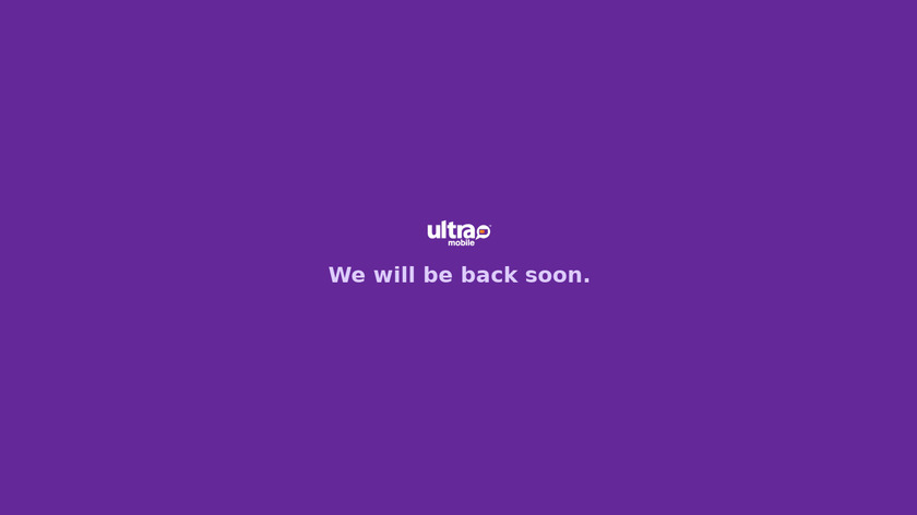 Ultra Mobile Landing Page