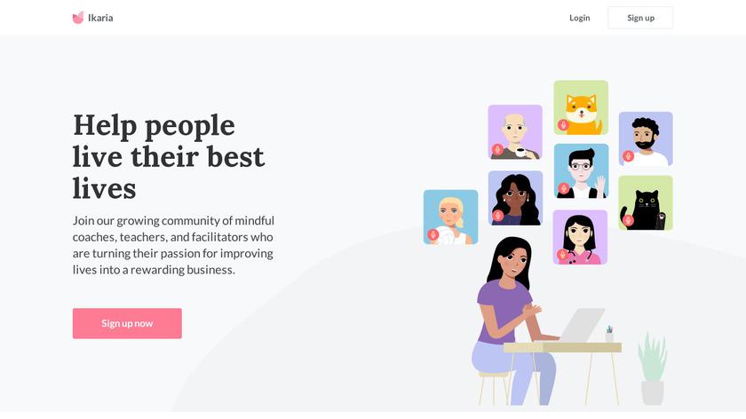 Inspired Virtual Gatherings Landing Page