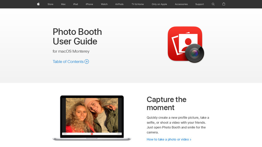 Photo Booth Landing Page