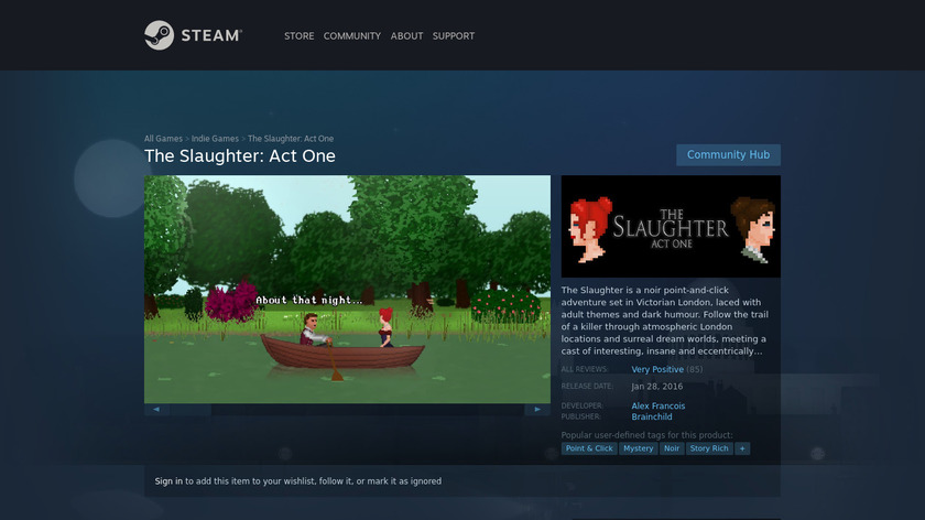 The Slaughter: Act One Landing Page