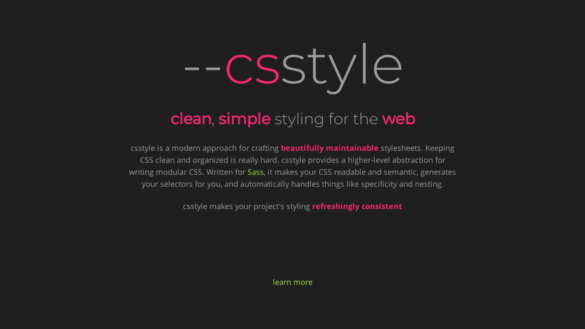 CSStyle Landing Page