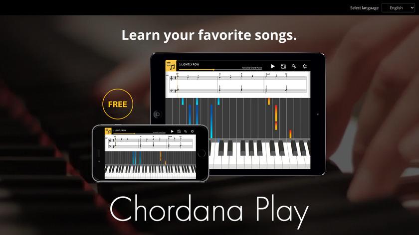 Chordana Play Landing Page