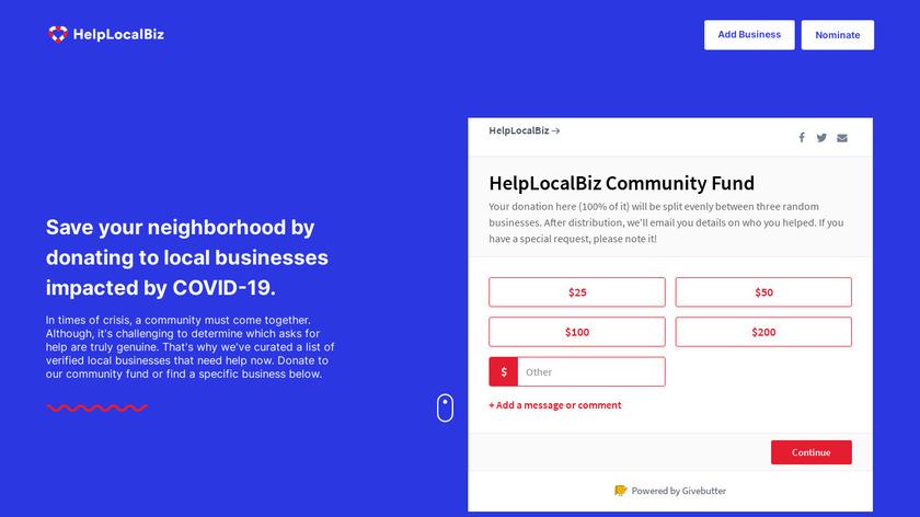 HelpLocalBiz Landing Page