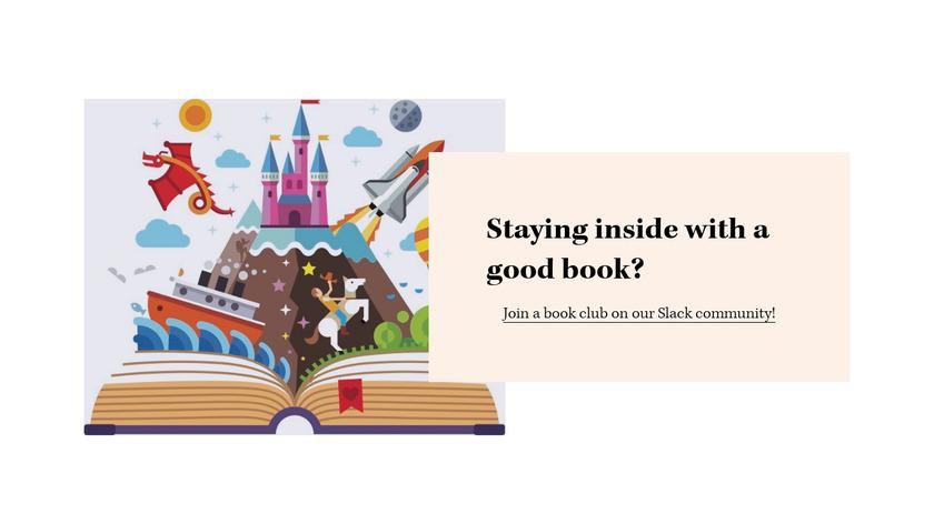 Self-Quarantine Book Club Landing Page