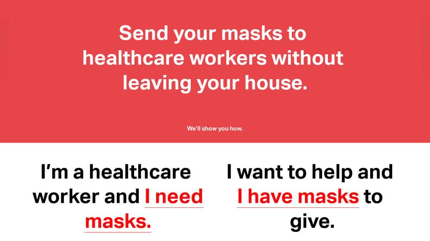 Mask Match Landing Page