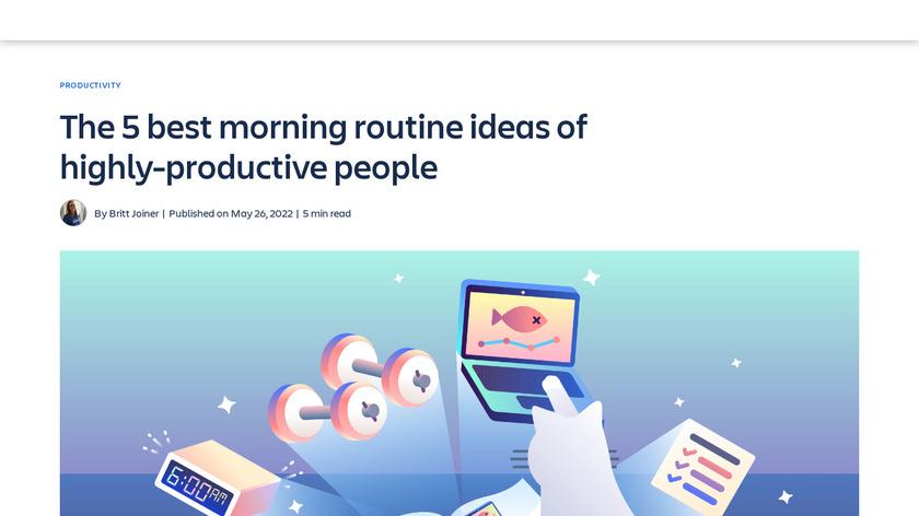 Good Morning: Ritual/Routine Landing Page