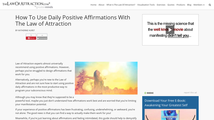 Daily Affirmations Landing Page