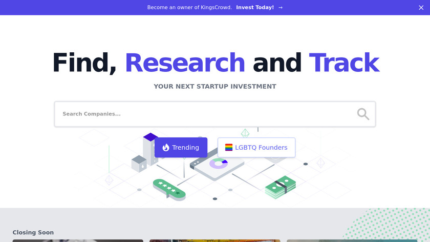 Newchip App (acquired by KingsCrowd) Landing Page
