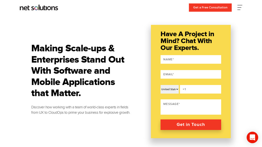 Net Solutions Landing Page
