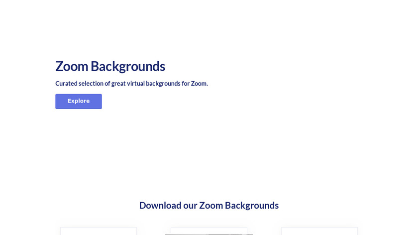Virtual Backgrounds Landing Page