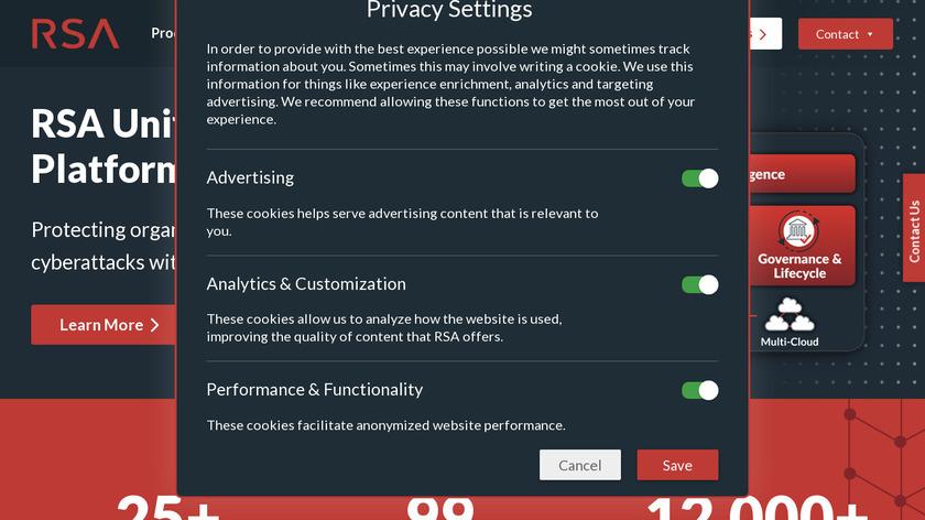 RSA Landing Page