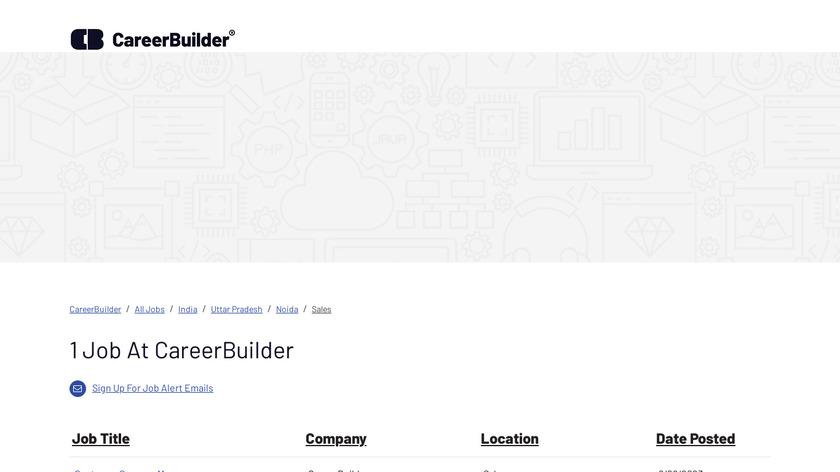 CareerBuilder Landing Page