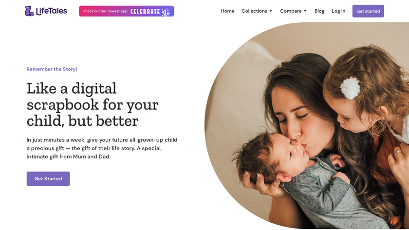 LifeTales Child Journals Landing Page