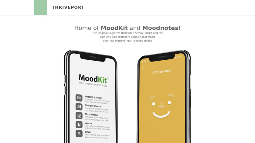 Moodnotes Landing Page