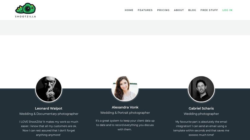 ShootZilla Landing Page