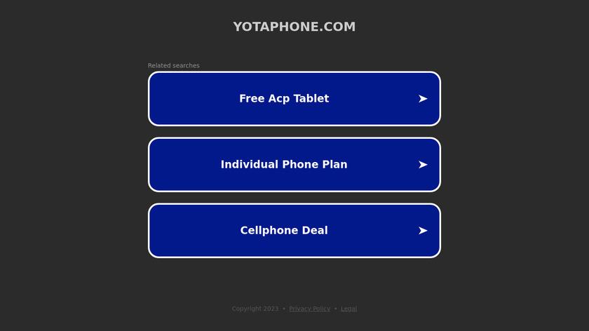 YotaPhone Landing Page