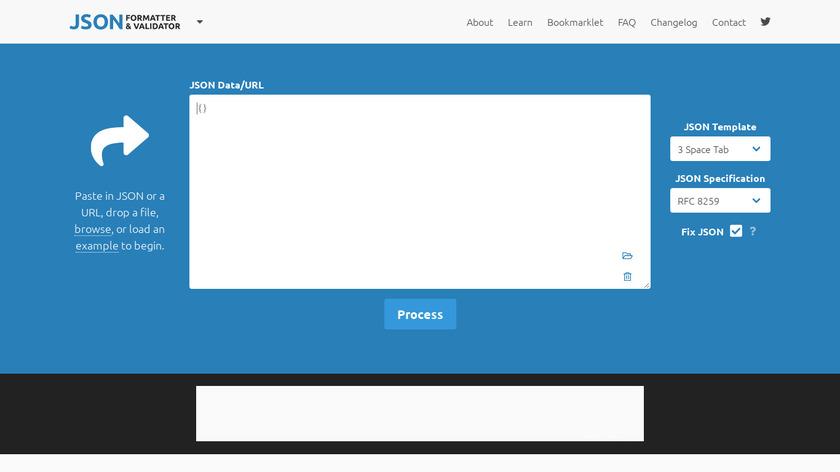 JSON Formatter & Validator Landing Page