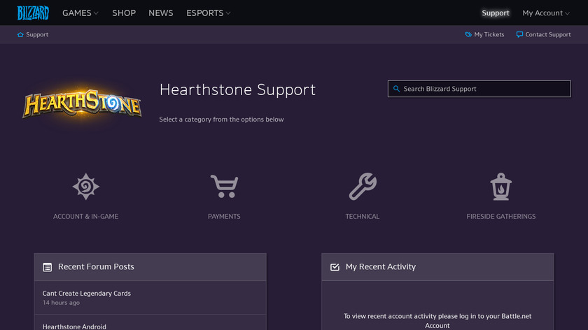 Hearthstone: Heroes of Warcraft Landing Page