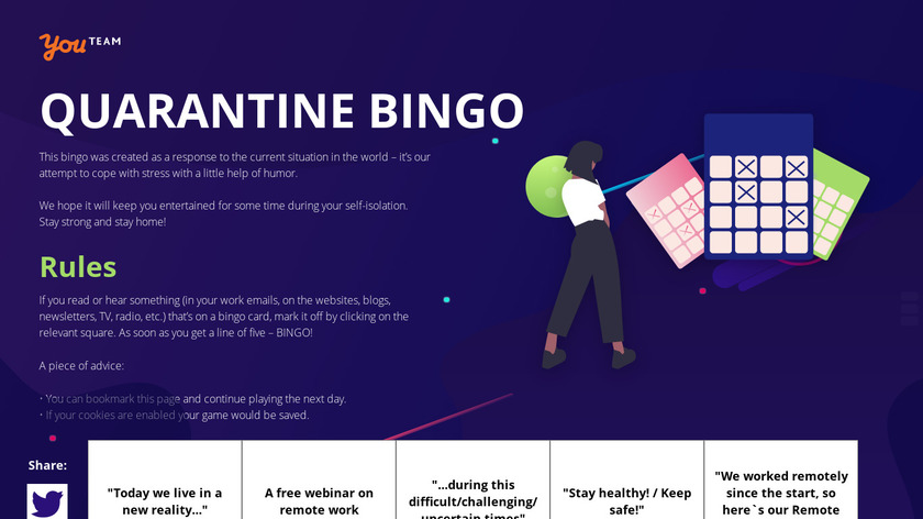 Quarantine Bingo Landing Page