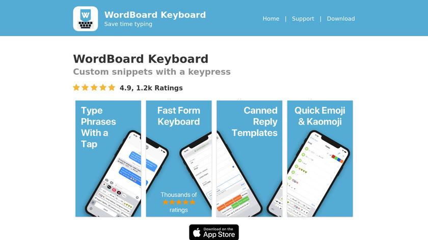 WordBoard Landing Page