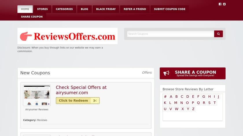 ReviewsOffers.com Landing Page