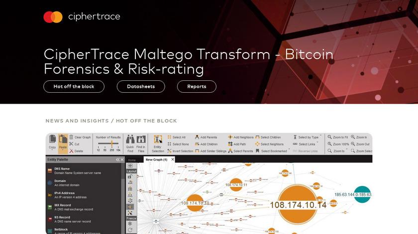 Ciphertrace Platform Landing Page