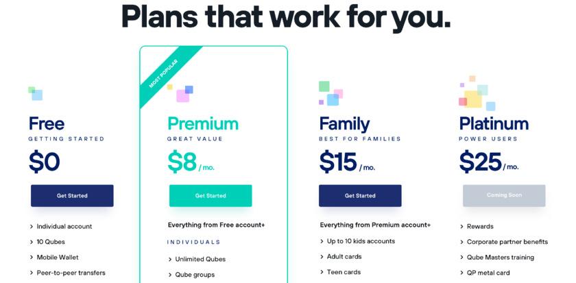 Qube Money Pricing