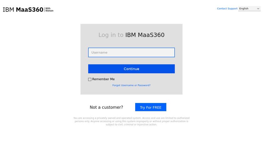 IBM MaaS360 Landing Page