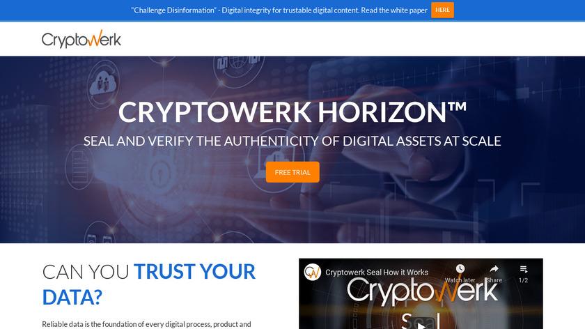 Cryptowerk HORIZON Landing Page