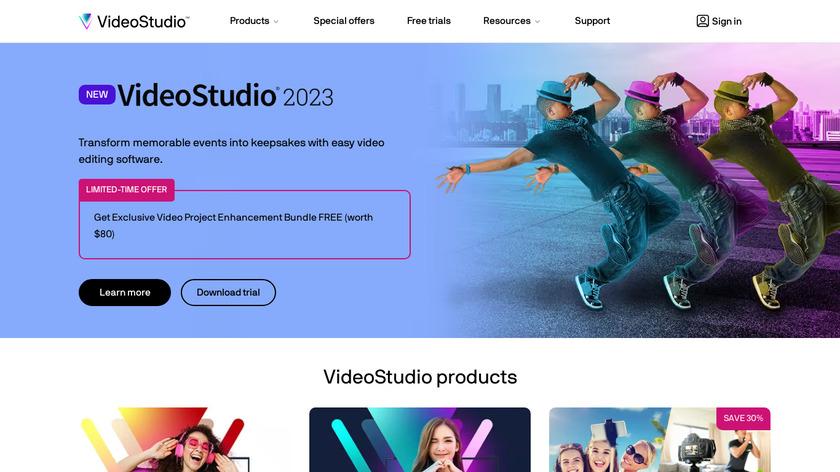 MotionStudio 3D Landing Page