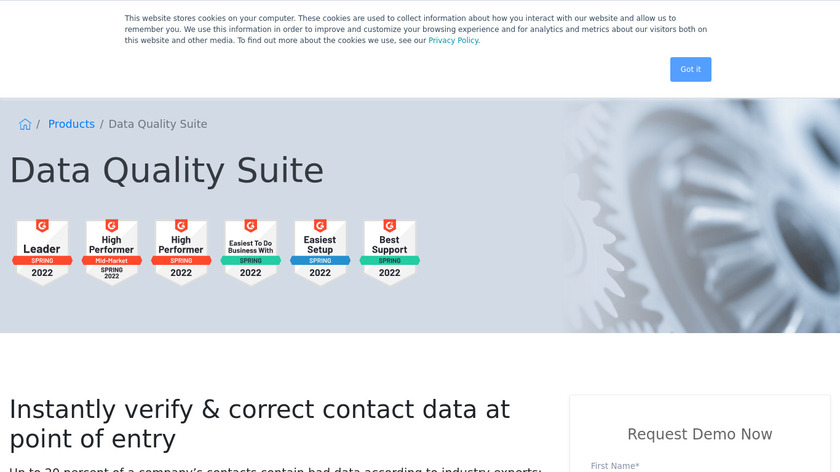 Data Quality Suite by Melissa Landing Page