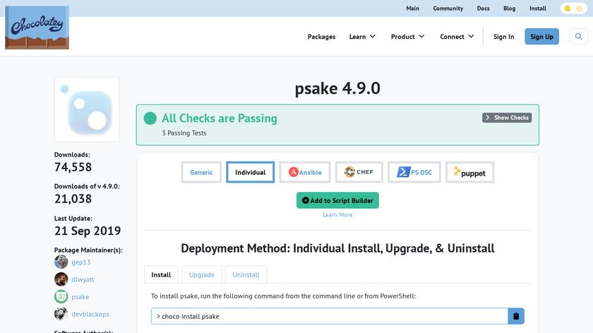 psake Landing Page