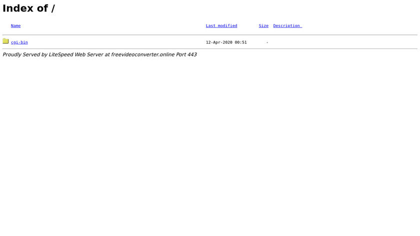 FreeVideoConverter.Online Landing Page