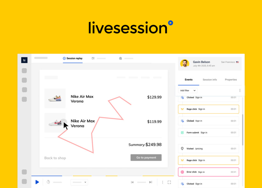 LiveSession Landing Page