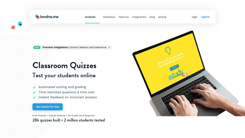 Classroom Quizzes Landing Page