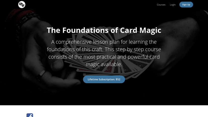 Card Magic Course Landing Page