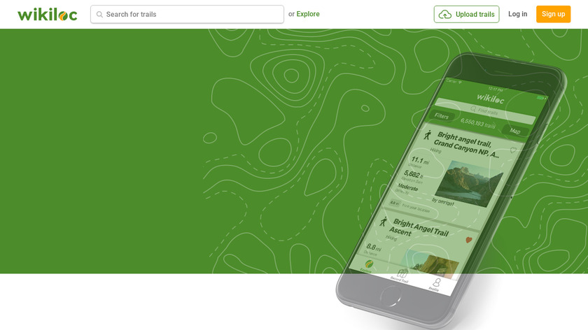 Wikiloc Outdoor Navigation GPS Landing Page