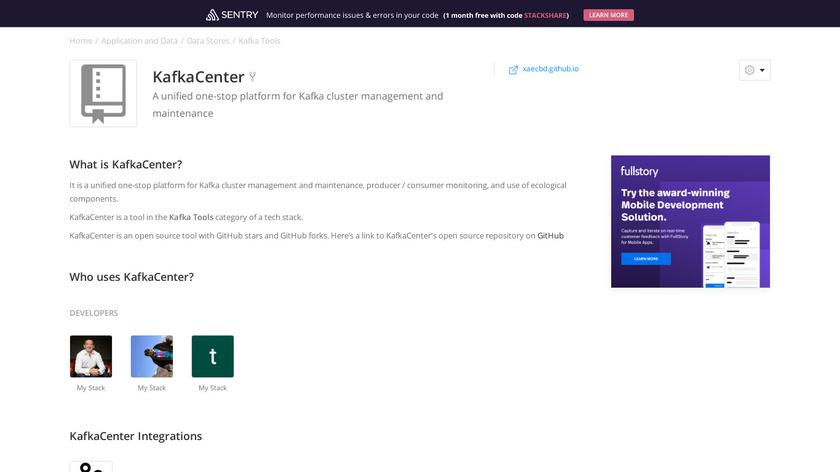 KafkaCenter Landing Page
