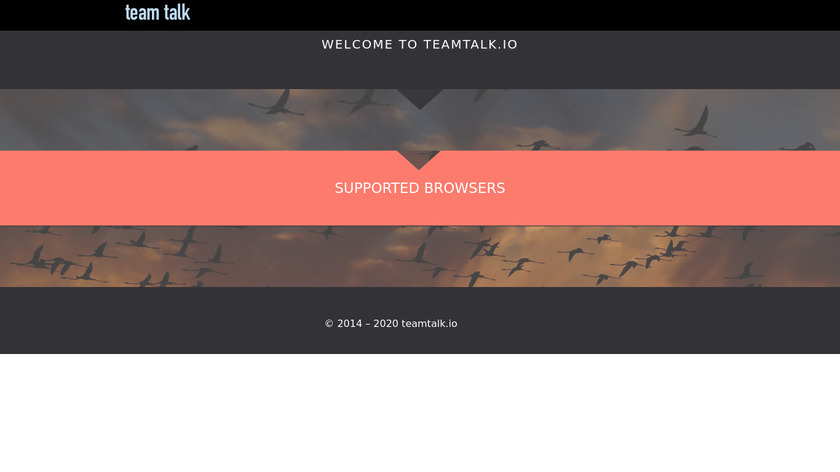 TeamTalk.io Landing Page